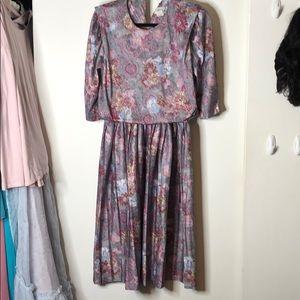 Vintage Floral Dress M